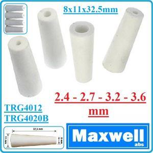 Дюзи керамични за пясъкоструйка, 38/76L, к-т 4 броя, 2.4-3.6mm, Maxwell